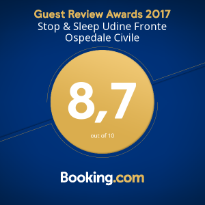 Stop&Sleep Udine Ospedale Booking Award 2017