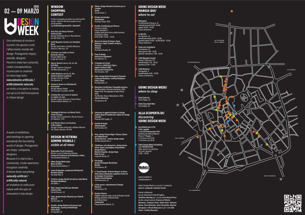 Mappa Eventi Udine Design Week 2020