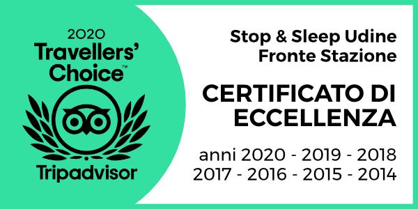 Stop & Sleep Certificato eccellenza Tripadvisor