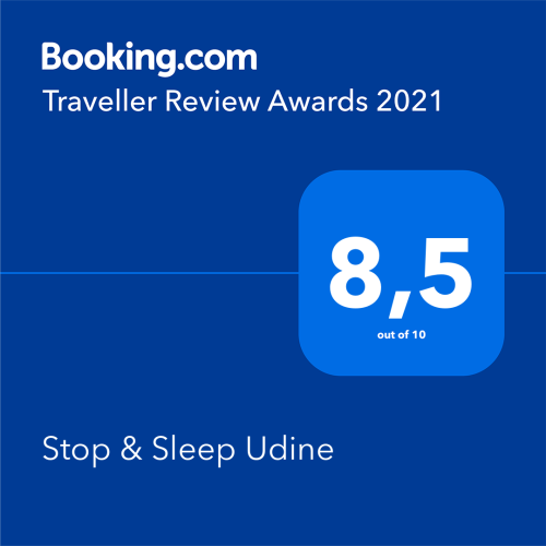 Premio di Booking Traveller Review Awards 2021 a Stop & Sleep Udine Fronte Stazione