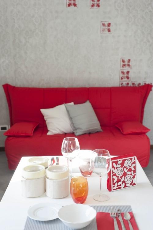 Zona relax nell'appartamento di San Daniele