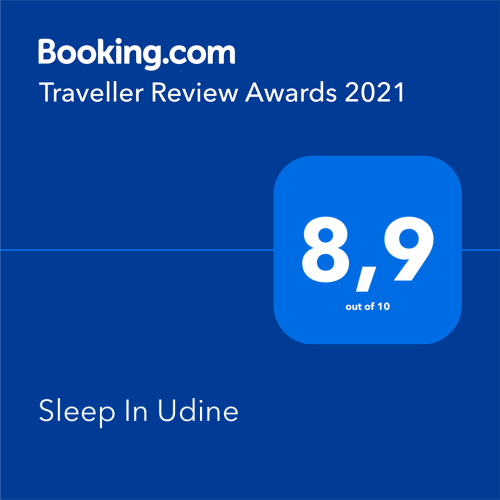 Premio di Booking Traveller Review Awards 2021 a Sleep In Udine Fronte Stazione