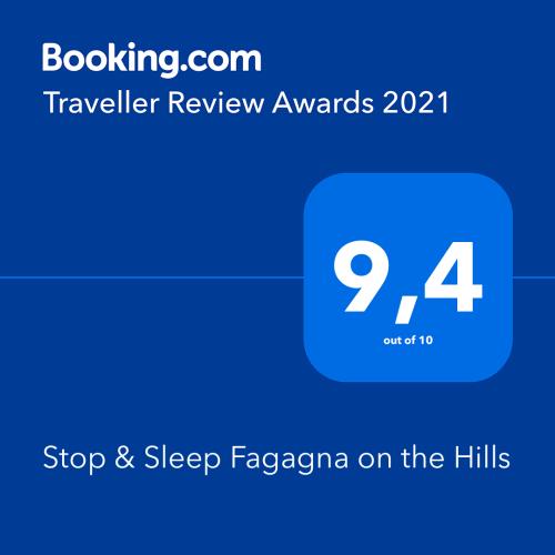 Premio di Booking Traveller Review Awards 2021 a Stop & Sleep Fagagna on the Hills